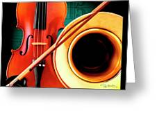 Violin And French Horn Greeting Card