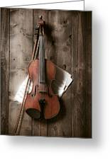 Violin Greeting Card by Garry Gay