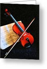 Violin Impression Greeting Card