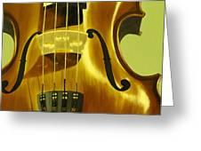 Violin In Yellow Greeting Card
