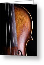 Violin Isolated On Black Greeting Card