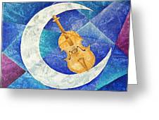 Violin-moon Greeting Card