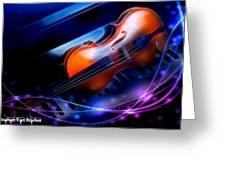 Violin On Piano Greeting Card