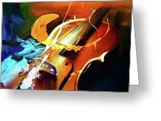 Violin Painting Art 51 Greeting Card