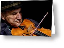 Violin Player Greeting Card