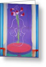 Violin Vase Greeting Card