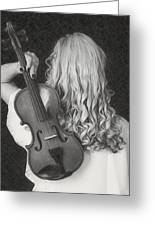 Violin Woman - Id 16218-130643-9888 Greeting Card