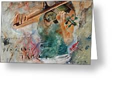 Violinist 56 Greeting Card