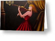 Violinist  Greeting Card