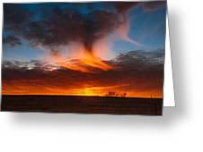 Virga Sunset Greeting Card