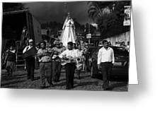 Virgen Concepcion De Ataco Bnw 2 Greeting Card