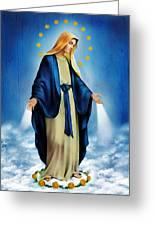 Virgen Milagrosa Greeting Card by Bibi Romer