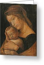 Virgin And Child 1470 Greeting Card