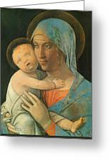 Virgin And Child 1495 Greeting Card
