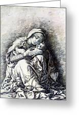 Virgin And Child Madonna Of Humility 1490 Greeting Card