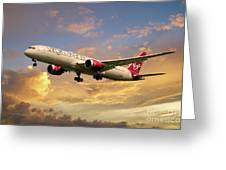 Virgin Atlantic Boeing 787 Dreamliner Greeting Card