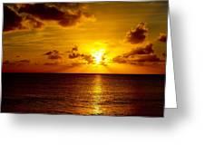 Virgin Islands Sunset Greeting Card