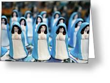 Virgin Mary Figurines Greeting Card