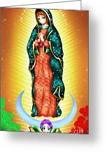 Virgin Of Guadalupe. Greeting Card