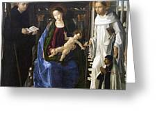 Virgin Of The Knight Of Montesa  Greeting Card