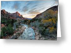 Virgin River And The Watchman Greeting Card