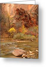 Virgin River At The Narrows Greeting Card