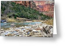 Virgin River In Zion Canyon Greeting Card