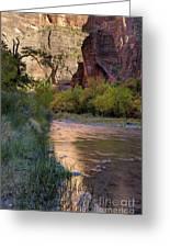 Virgin River Reflection Greeting Card