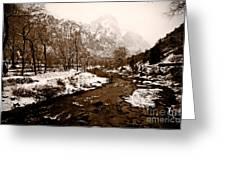 Virgin River Running I Greeting Card