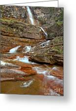 Virginia Fall Glacier Cascades Greeting Card