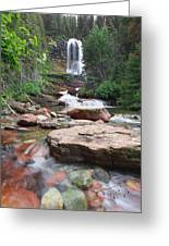 Virginia Falls - Glacier N.p. Greeting Card