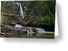Virginia Falls In The Pool Greeting Card
