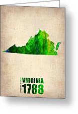 Virginia Watercolor Map Greeting Card