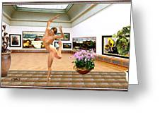 Virtual Exhibition - Dacanvasncing Girl Greeting Card