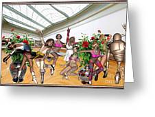 Virtual Exhibition - Dance Of Opening The Exhibition Greeting Card