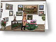 Virtual Exhibition - Girl With Boots Greeting Card