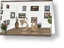 virtual exhibition_Statue of swans 22 Greeting Card