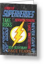 Virtues Of A Superhero 2 Greeting Card