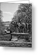 Viscount Gough On Horseback. Greeting Card