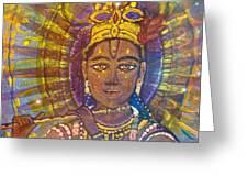 Vishnu Krishna Face Greeting Card
