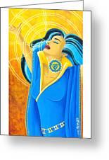 Vishuddha Throat Chakra Goddess Greeting Card