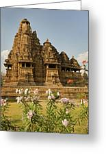 Vishvanatha Temple In Khajuraho  Greeting Card