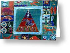 Vision Of Native North America Greeting Card