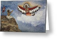 Vision Of The Eagle Spirit Greeting Card
