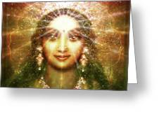Vision Of The Goddess - Light Greeting Card