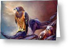 Vision Of The Hawk 2 Greeting Card