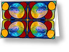 Visions Of Bliss And Abstract Artwork By Omaste Witkowski Greeting Card