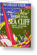 Visit Beautiful Sea Cliff Greeting Card