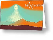 Visit California Travel Poster Greeting Card