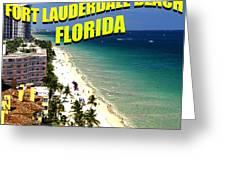 Visit Fort Lauderdal Poster A Greeting Card